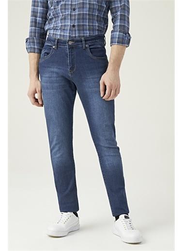 D'S Damat Slim Fit Düz Denim Pantolon Mavi